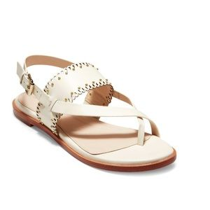COLE HAAN Leather Scallop Thong Sandal